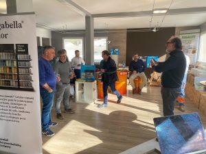 La présentation & démonstration des produits kerakoll lors de l'événement organisé par CSF